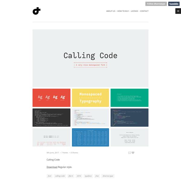 Dharma Type - Calling Code Download Regular style.