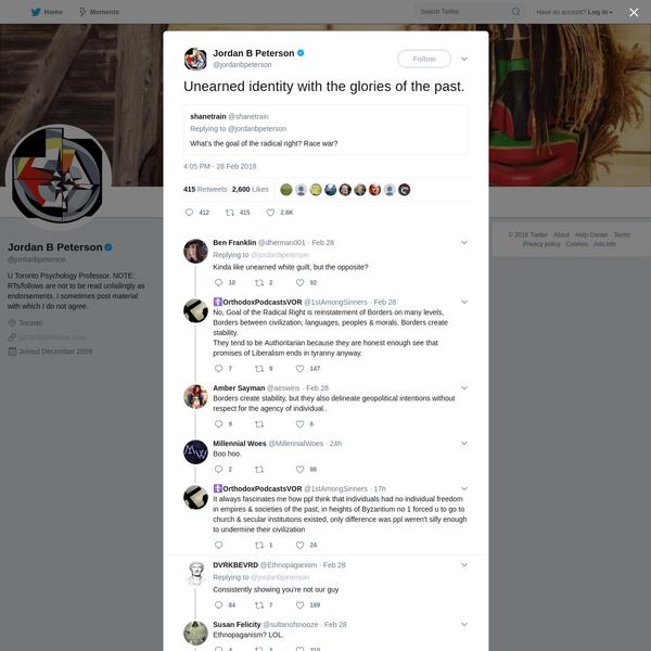Jordan B Peterson on Twitter