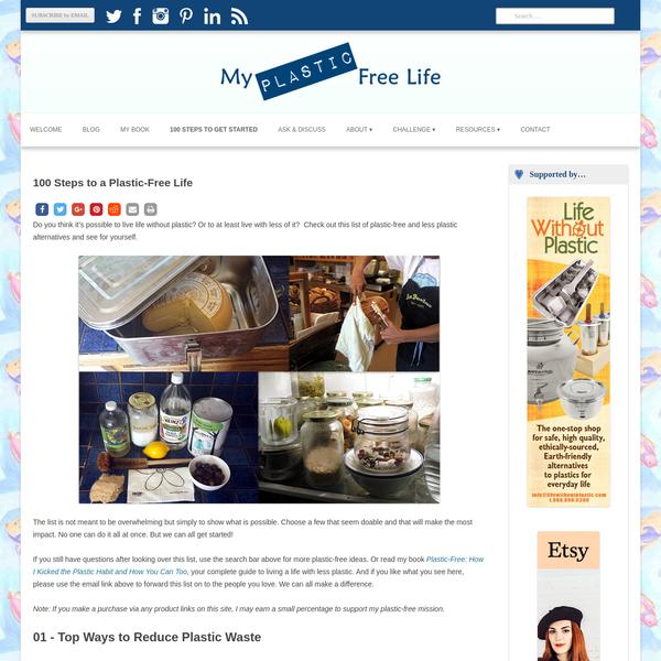"100 Steps to a Plastic-Free Life "" My Plastic-free Life"