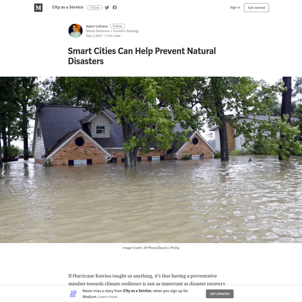 If Hurricane Katrina taught us anything, it's that having a preventative mindset towards climate resiliency is just as important as disaster recovery efforts. Except, as we are now seeing in Houston (1), we didn't implement many strategies that would indicate we learned those hard lessons.