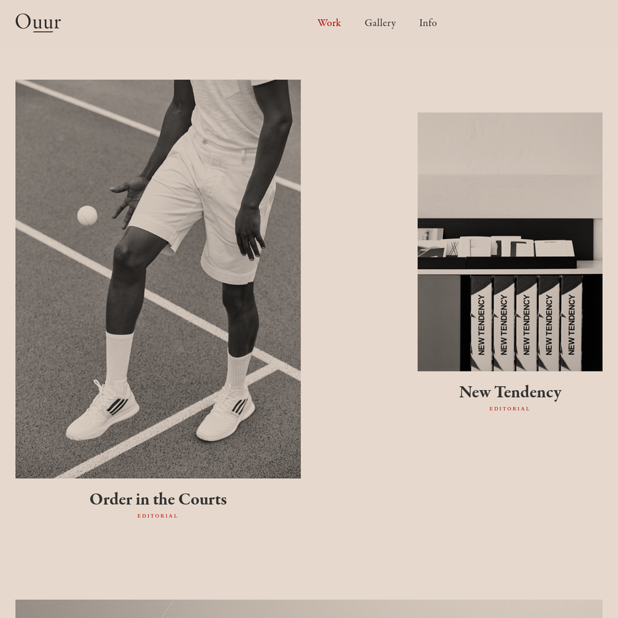Ouur is a lifestyle publisher and agency creating print and digital media for a young creative audience.