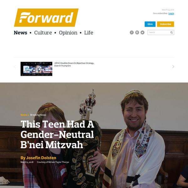 This Teen Had A Gender-Neutral B'nei Mitzvah