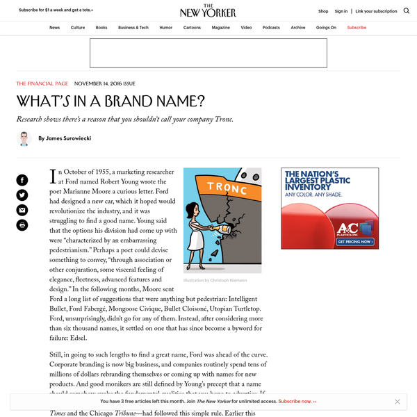 What's in a Brand Name?
