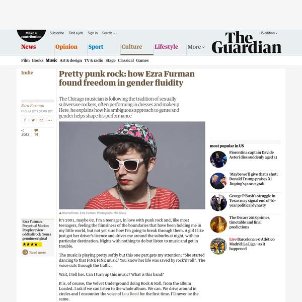 Pretty punk rock: how Ezra Furman found freedom in gender fluidity