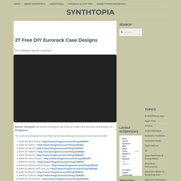 27 Free DIY Eurorack Case Designs