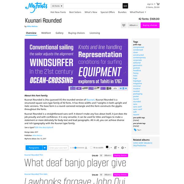 "Kuunari Rounded - Webfont & Desktop font "" MyFonts"