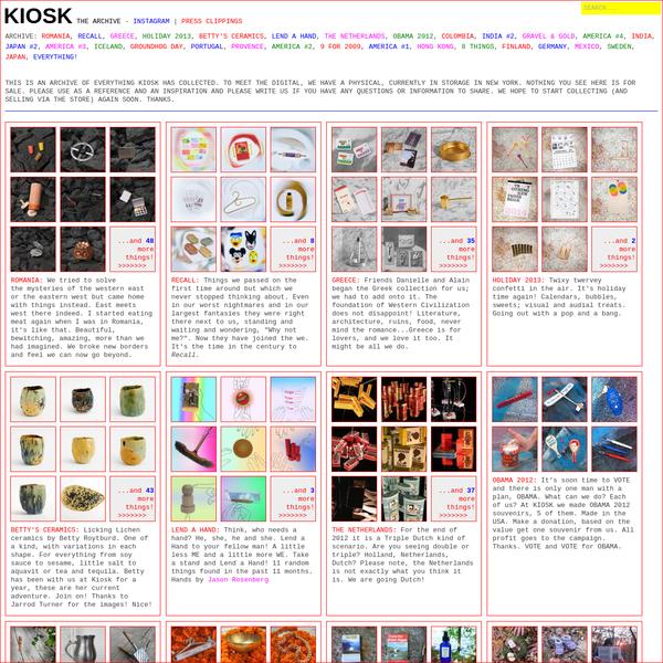 KIOSK Archive