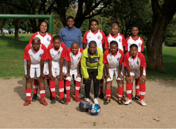 """""""South Africa's only openly lesbian football team"""" –https://www.theguardian.com/football/2010/jun/20/world-cup-south-africa-lesbian"""