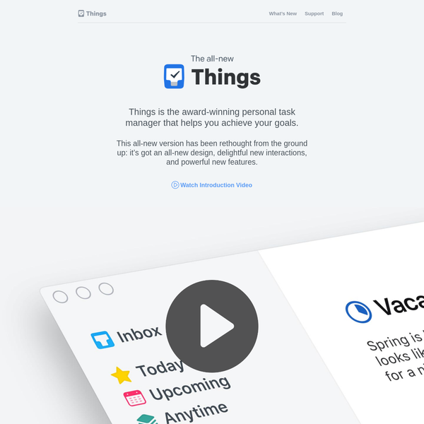The all-new Things. Your to-do list for Mac & iOS