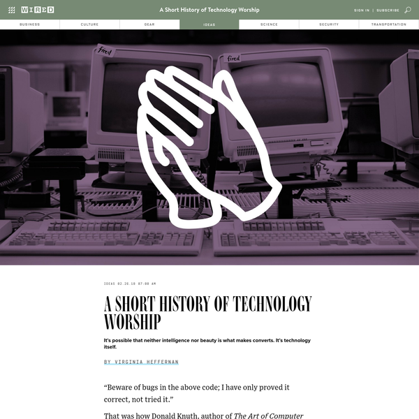 A Short History of Technology Worship