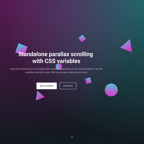 Standalone parallax scrolling for mobile and desktop with CSS variables.
