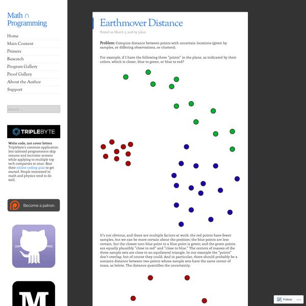 Earthmover Distance
