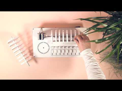 Axel Bluhme's XOXX Composer drum machine triggers sounds using rotating discs of magnets