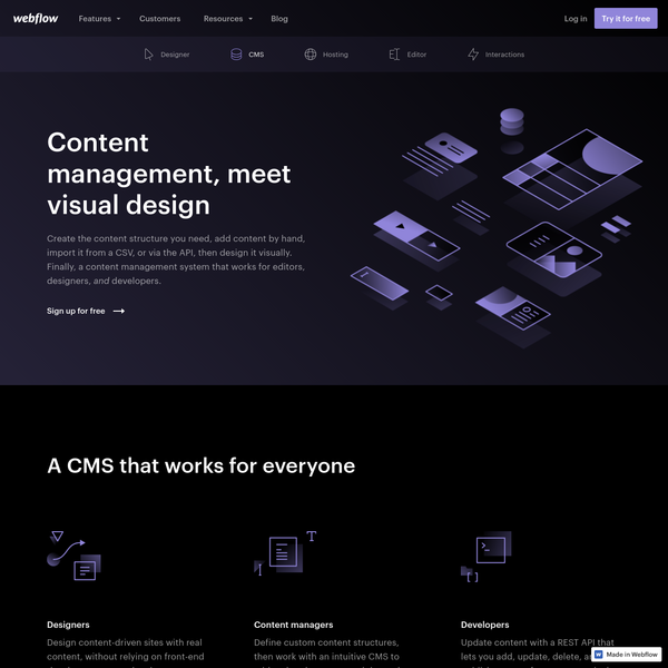 The web CMS for designers | Webflow
