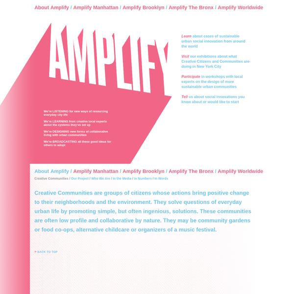 Amplifying Creative Communities