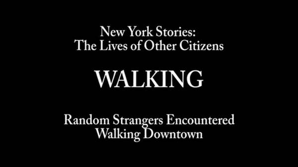 For New York Stories, jointly funded by the ESRC and the Wenner Gren Foundation, I collected more than 100 interior dialogues of random strangers as they moved around the city. The method was very simple: I stood at different points in the city and asked people what they were thinking about in the moment immediately before I approached them.