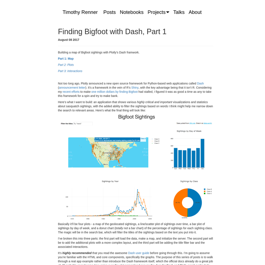 Not too long ago, Plotly announced a new open source framework for Python-based web applications called Dash ( announcement letter). It's a framework in the vein of R's Shiny, with the key advantage being that it isn't R.