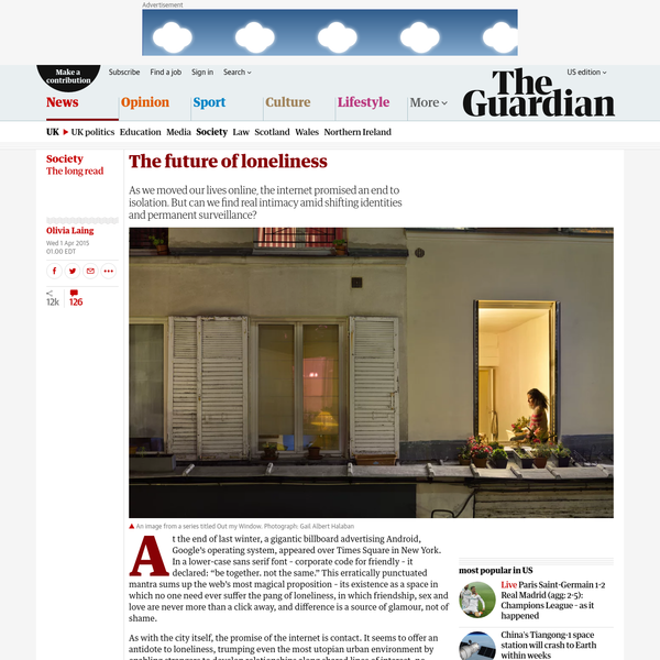 The future of loneliness | Olivia Laing