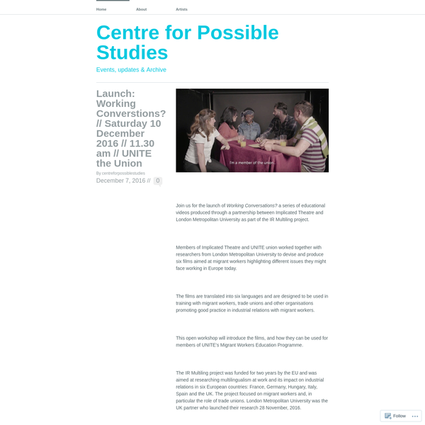 Centre for Possible Studies