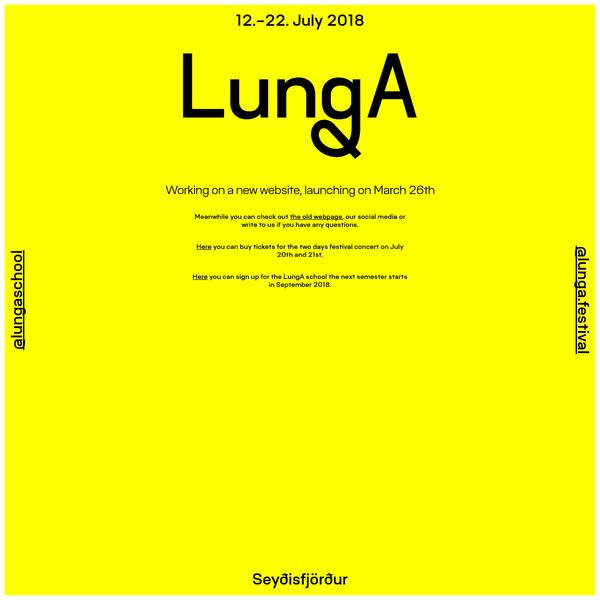 LungA 2018