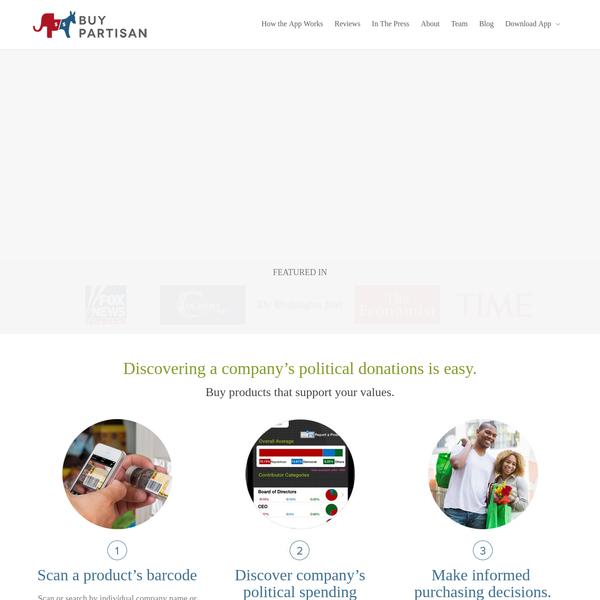 BuyPartisan | Discover a company's political spending