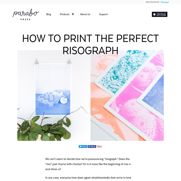 How to Print the Perfect Risograph