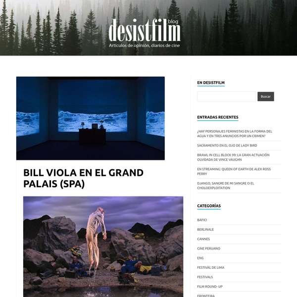 BILL VIOLA EN EL GRAND PALAIS (SPA)