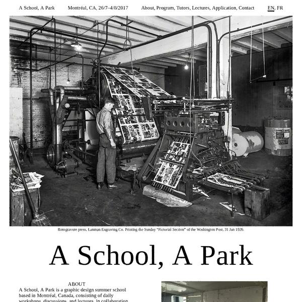 A School, A Park
