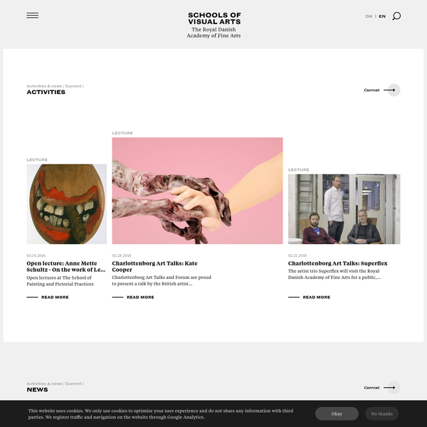 Frontpage | Schools of Visual Arts - The Royal Danish Academy of Art