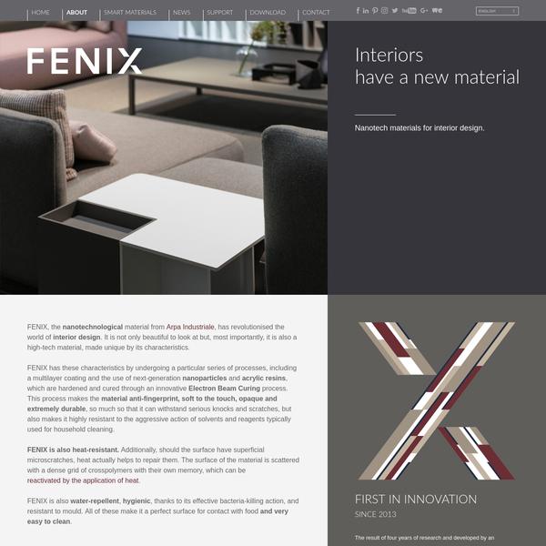FENIX for interiors | Matt nanotech surface for interior design