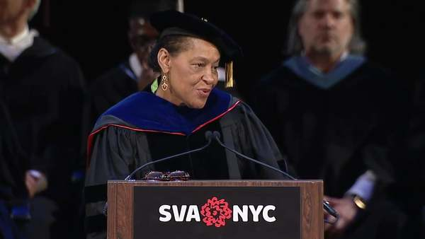 This was the commencement address for my own graduation from my master's program at SVA. As a fan of Weems' work for many years, I flipped out when it was announced she would be our speaker. Her delivery is chilling. How do you measure a life?   - Ida  ---- Annotated transcript and background: https://www.brainpickings.org/2016/05/27/carrie-mae-weems-sva-commencement-address/ Recording courtesy of the School of Visual Arts: http://www.sva.edu/ More of the best commencement addresses of all time: https://www.brainpickings.org/2014/05/20/the-best-commencement-addresses-of-all-time/