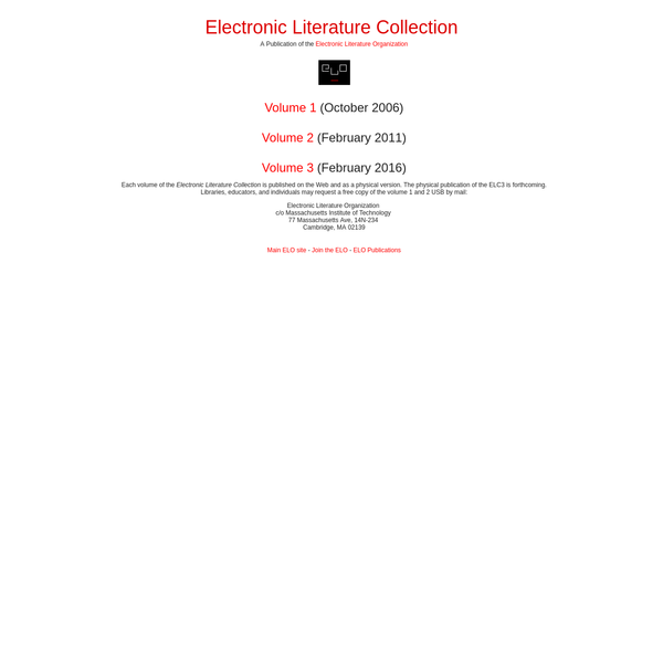Electronic Literature Collection