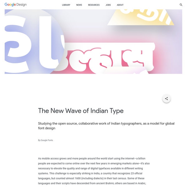 Studying the open source, collaborative work of Indian typographers, as a model for global font design