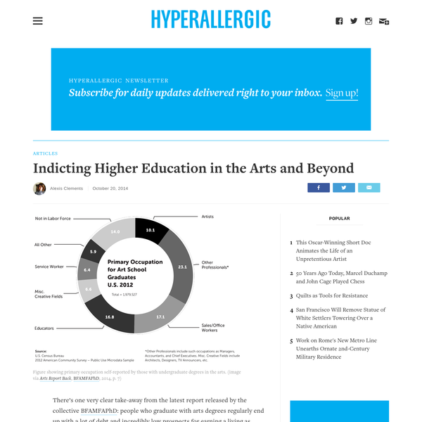 Indicting Higher Education in the Arts and Beyond