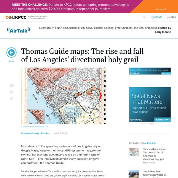 Thomas Guide maps: The rise and fall of Los Angeles' directional holy grail