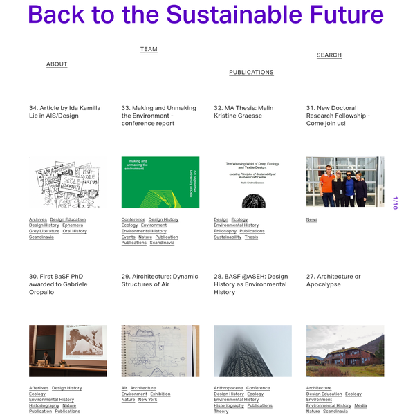 Back to the Sustainable Future