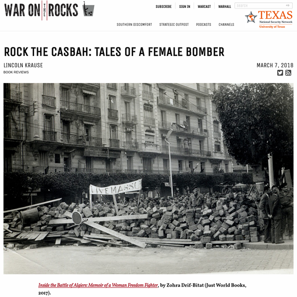 Rock the Casbah: Tales of a Female Bomber - War on the Rocks
