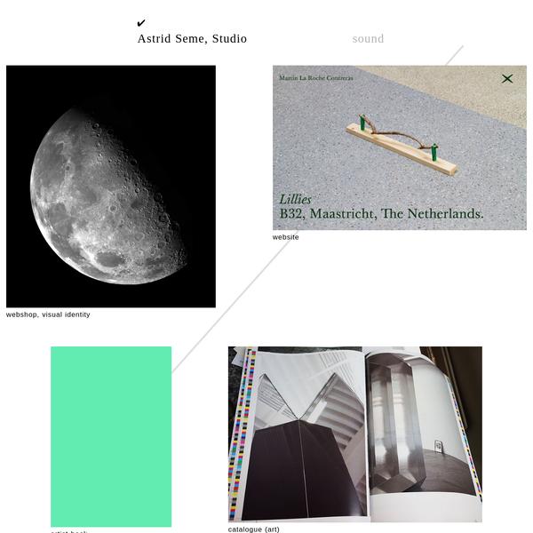 Graphic design - Astrid Seme, Studio
