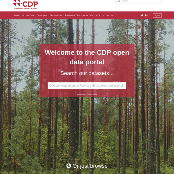 CDP Open Data Portal | CDP Open Data Portal