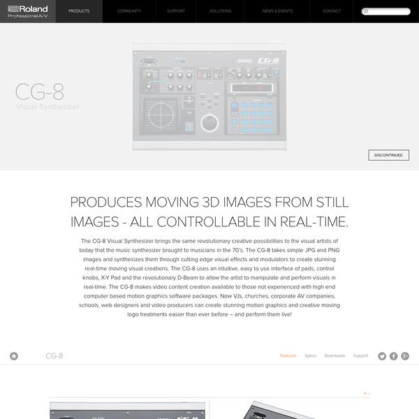 Roland Pro A/V - CG-8 | Visual Synthesizer