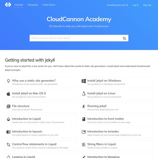 CloudCannon Academy