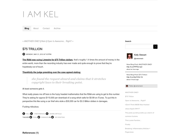 $75 Trillion - Blog - I Am Kel