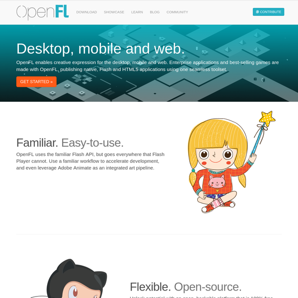 OpenFL - Creative expression for desktop, mobile, web and console platforms