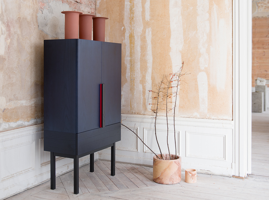 Aizome cabinet by Zoe Mowat