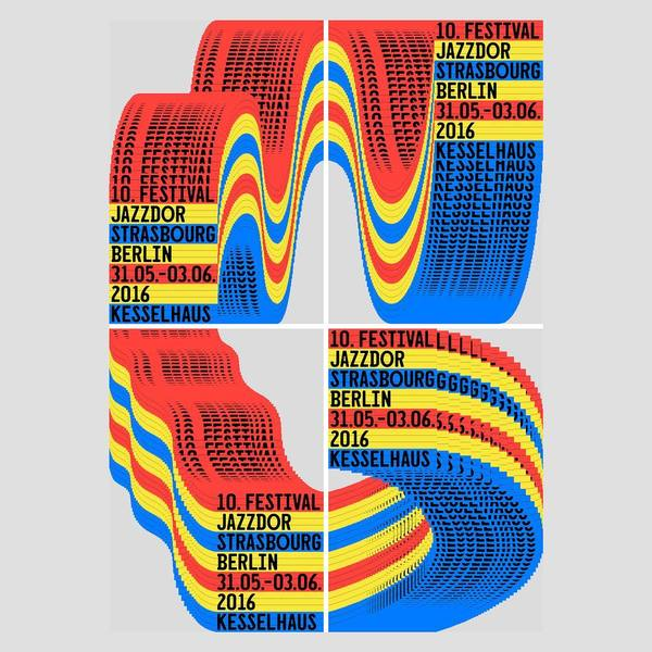 """1,977 Likes, 4 Comments - GraphicDesignFestivalScotland (@gdfscotland) on Instagram: """"2017 International Poster Exhibition submission ⬇️ Title: Festival Jazzdor Strasbourg-Berlin By:..."""""""