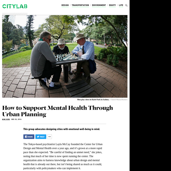 How Urban Planning Can Support Mental Health