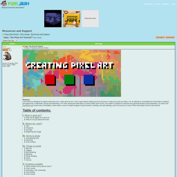 Pixel Joint Forum: The Pixel Art Tutorial