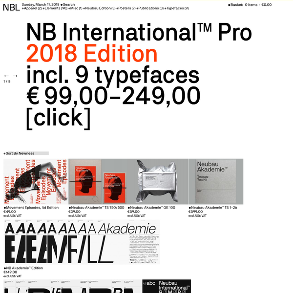 Web Store for Berlin Based Design studio Neubau
