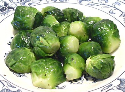 STEAMED brussel sprouts from MICROWAVE