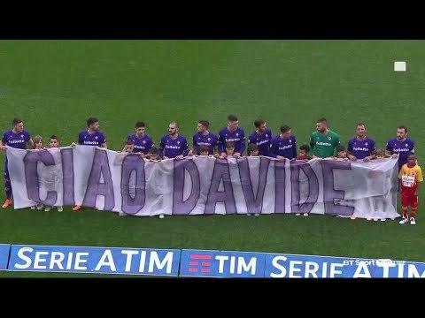 Emotional scenes at the Stadio Artemio Franchi as Fiorentina pay tribute to Davide Astori.